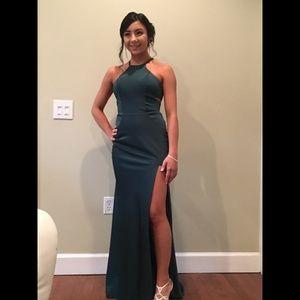 Forest Green La Femme #24380 Prom Dress Size 2